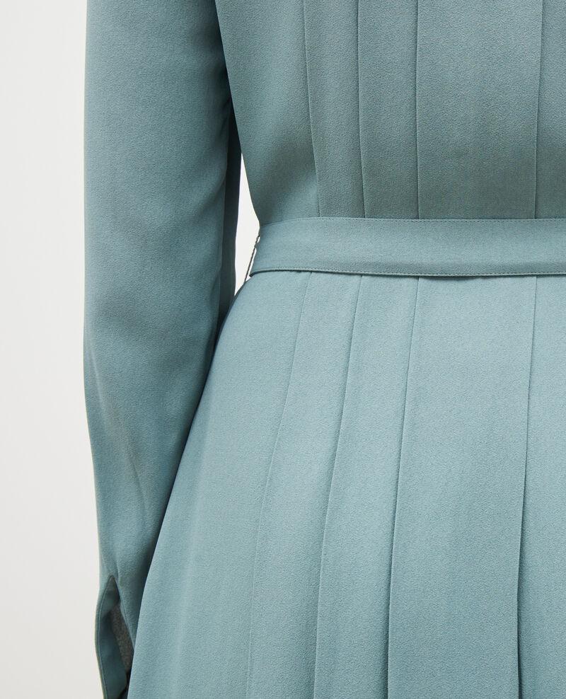 Plissee-Kleid mit Gürtel  Treillis Marcilia