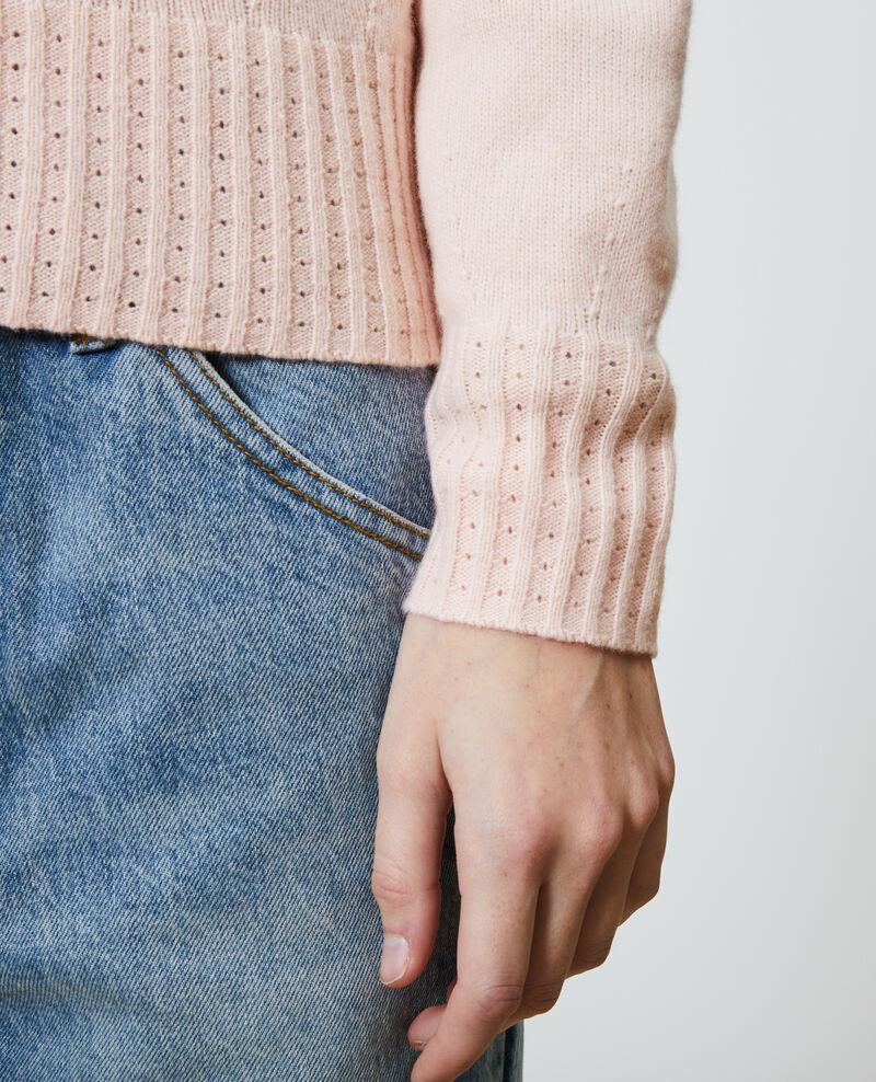 Pullover aus Kaschmir mit Rundkragen Seashell pink Nogna