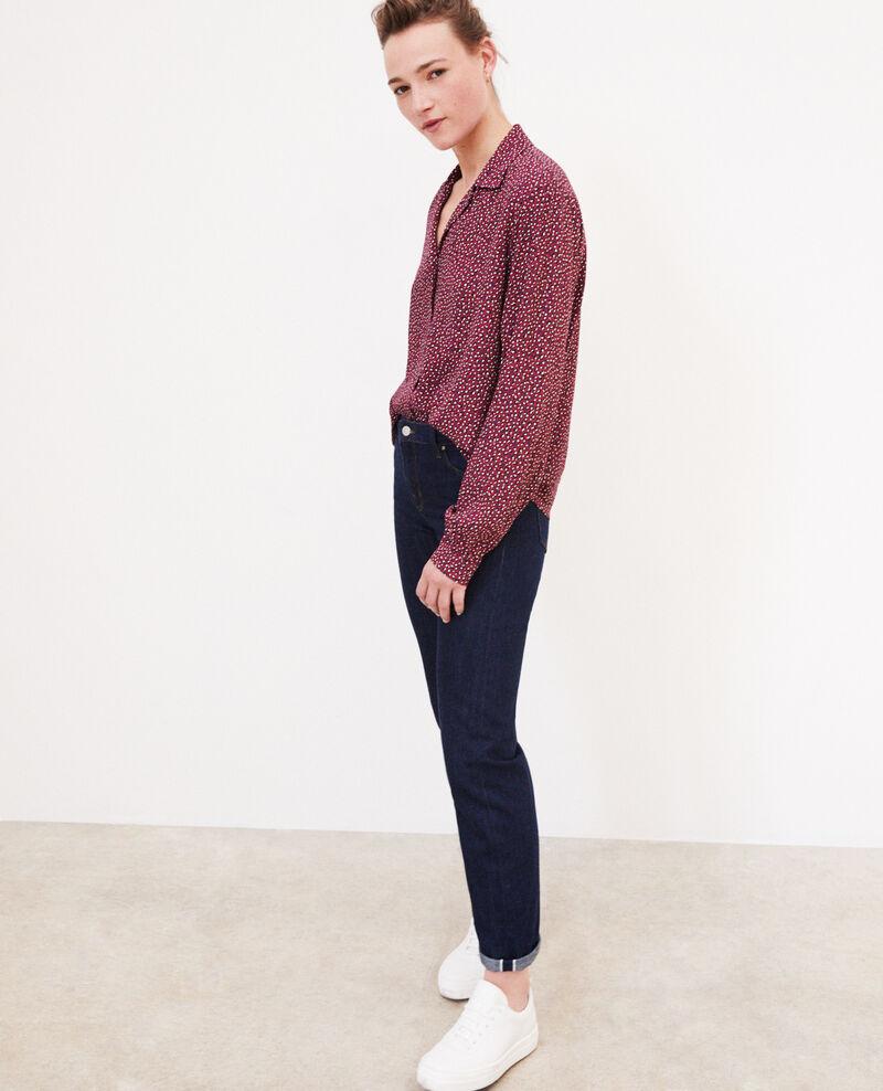 Bluse mit offenem Kragen Rot Gaby