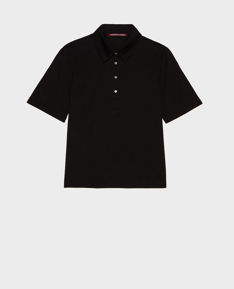 Polo-Shirt aus Baumwolle Black beauty Levas