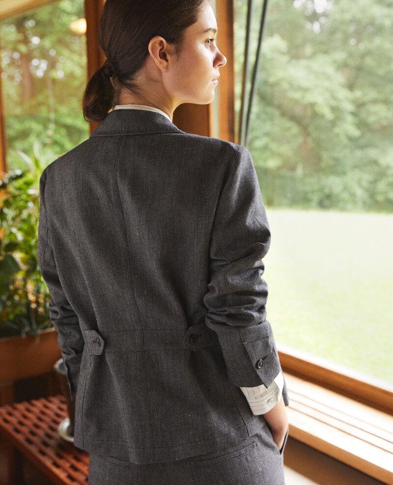 Jacke aus Leinen und Wolle Blau Guibert