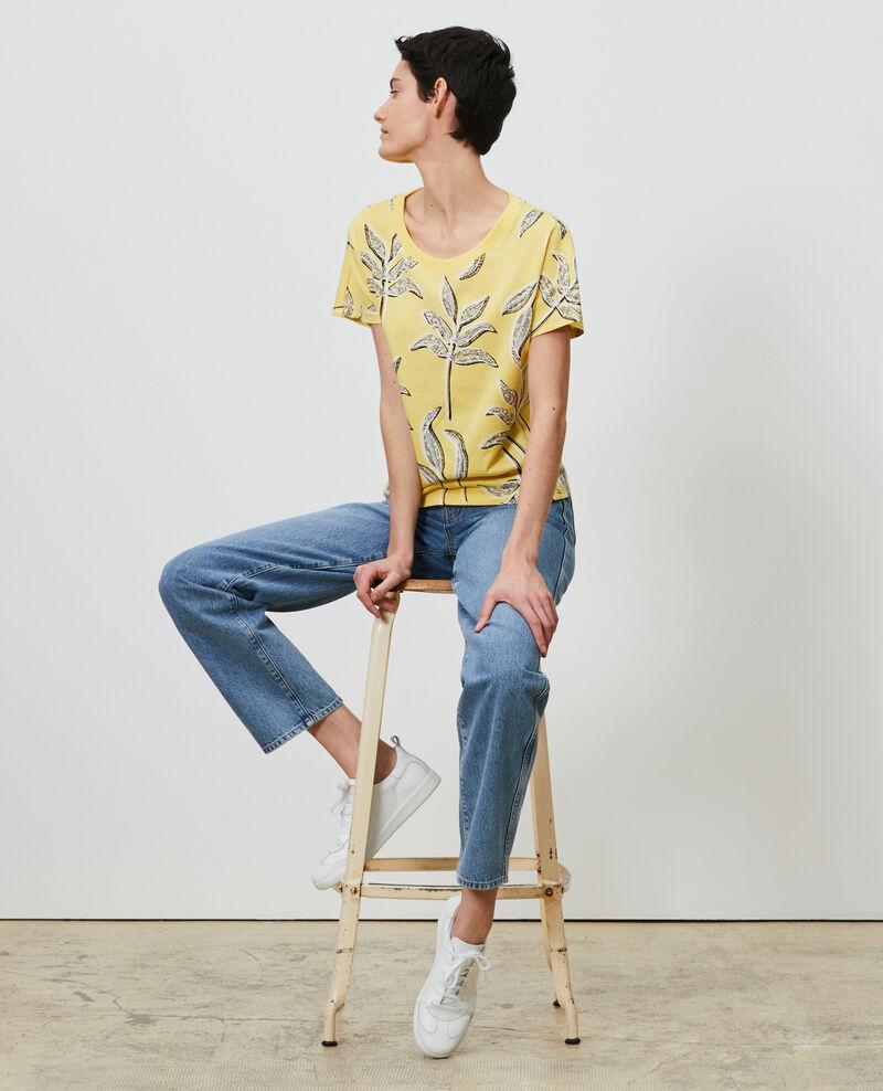 T-Shirt mit Rundhalsausschnitt aus Baumwolle Prt bot lemon Nimeric