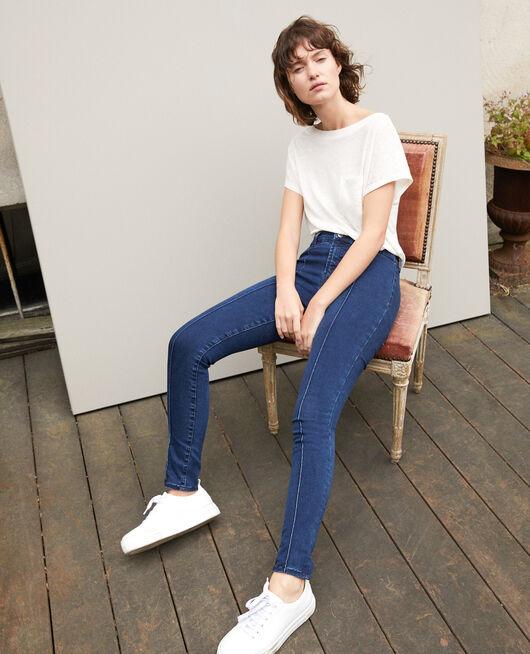 Skinny-Jeans mit 7/8-Cropped-Länge Blau