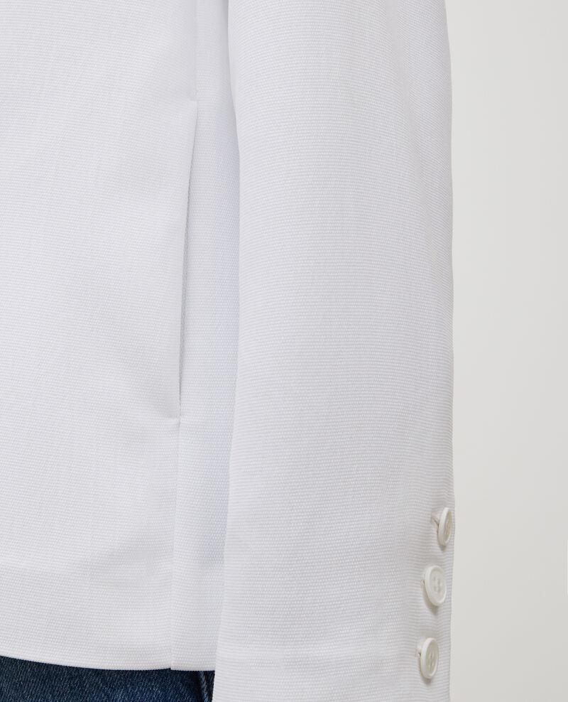 Smokingjacke aus fließendem Polyester Optical white Levibal