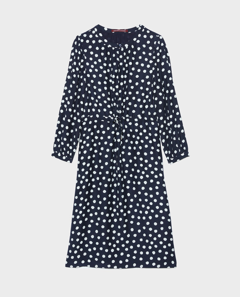 Wickelkleid aus Seide Small dots Nireclos