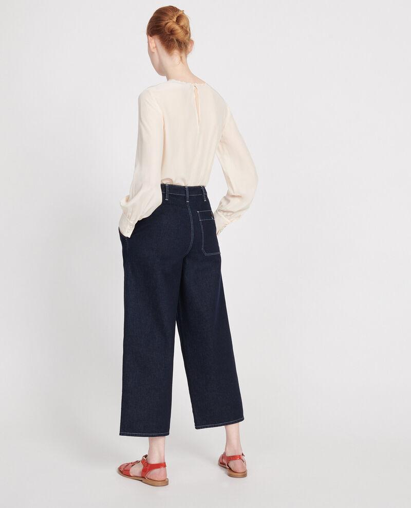 Wide Leg Cropped Jeans Brut Denim rinse Leandra