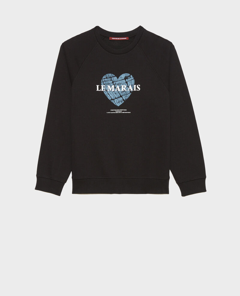 Sweatshirt aus Molton Black beauty Madeleina