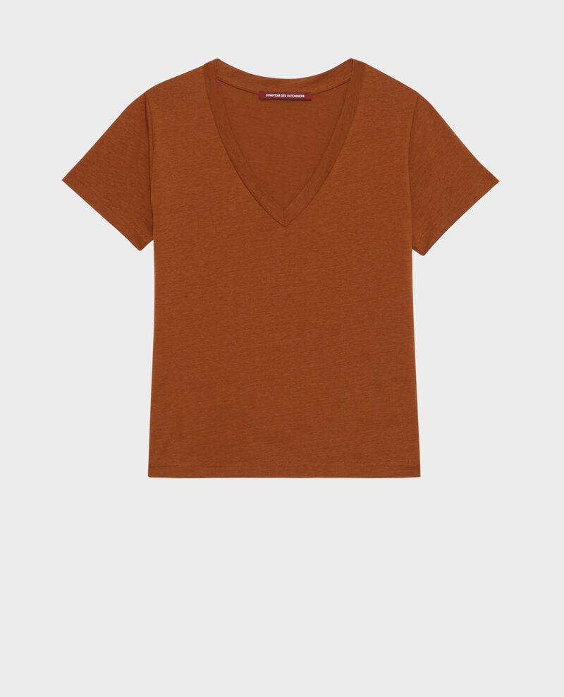 Fließendes T-Shirt mit V-Ausschnitt Monks robe Paberne