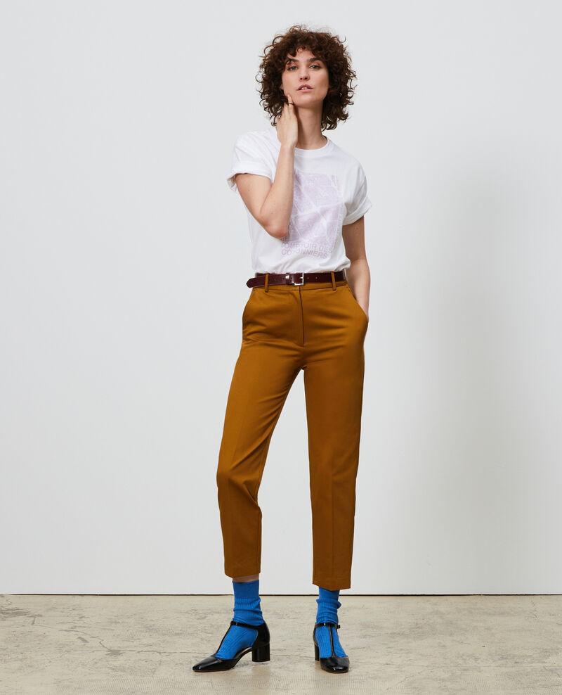 T-Shirt aus Baumwolle mit kurzen Ärmeln Pastel lilac Marlane