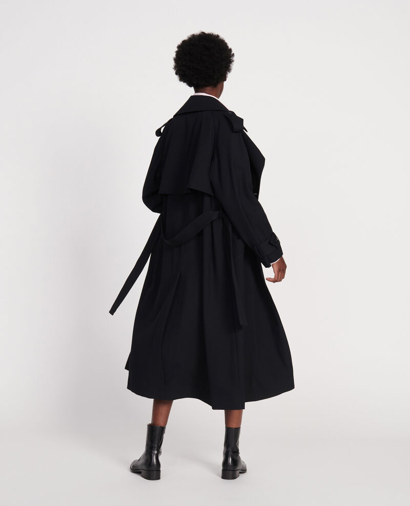 Trenchcoat aus Wolle Black beauty Laiko