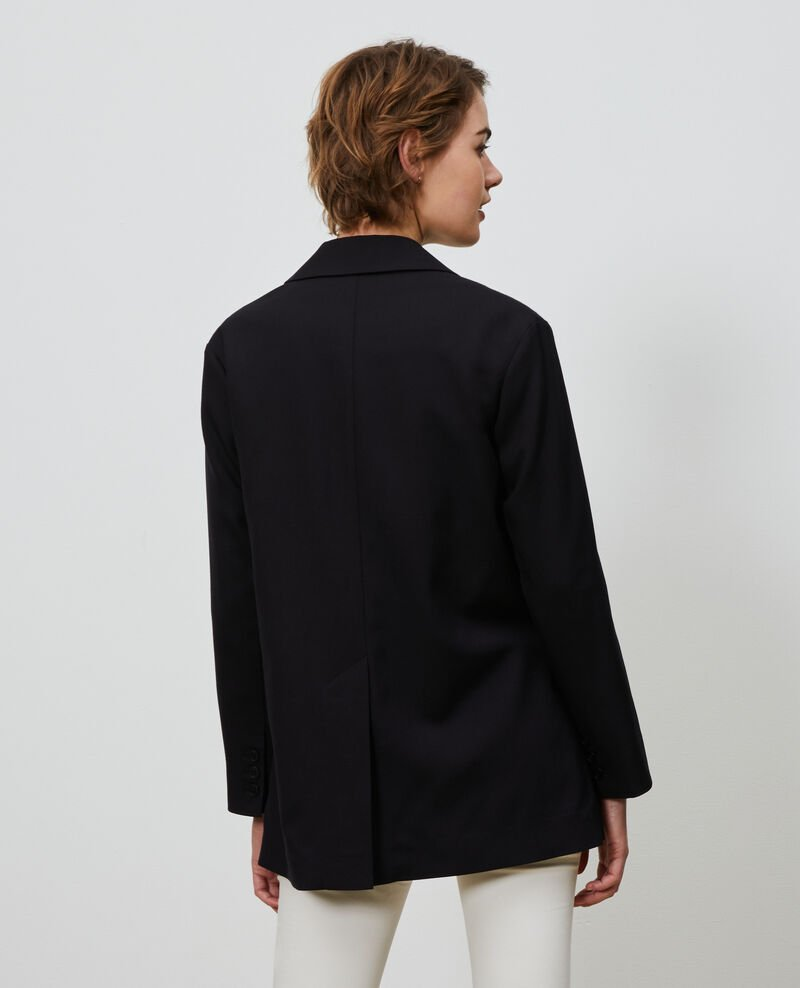 Herren-Blazer aus Wolle Black beauty Nably