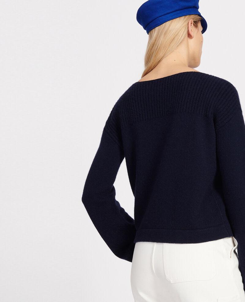 Pullover aus Wolle und Kaschmir Maritime blue Lalane