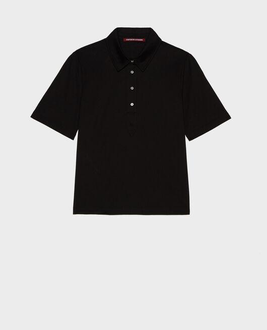 Polo-Shirt aus Baumwolle BLACK BEAUTY