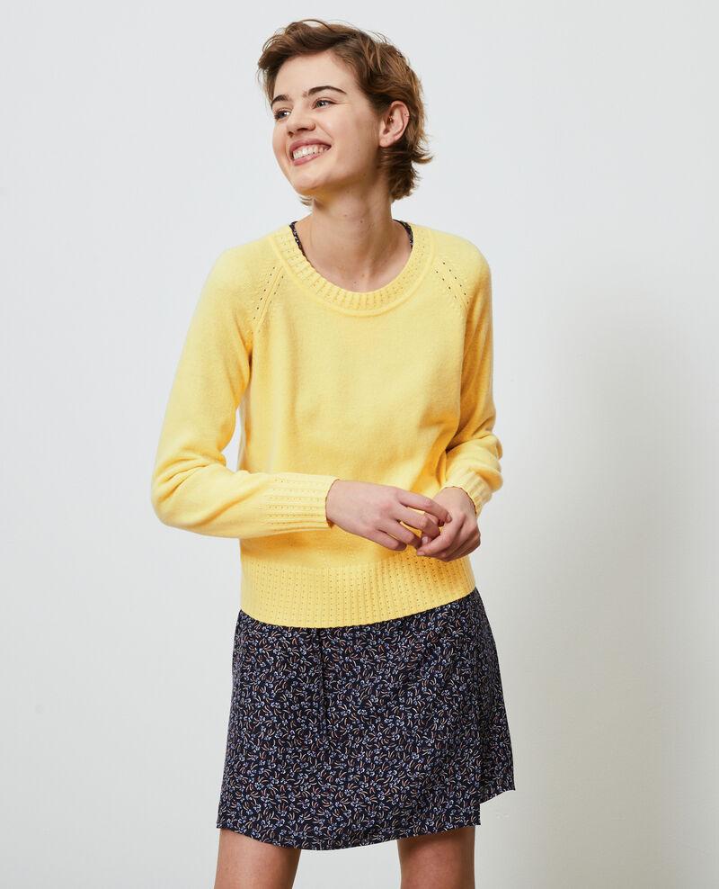 Pullover aus Kaschmir mit Rundkragen Lemon drop Nogna