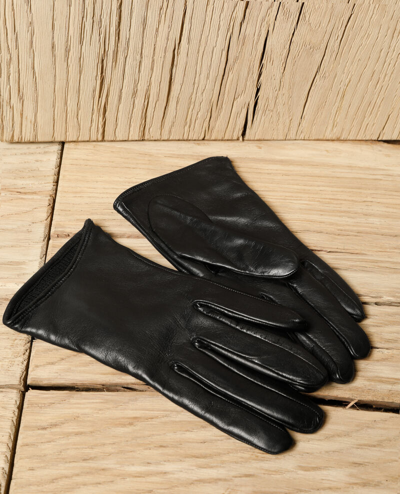 Lederhandschuhe Schwarz Gogant