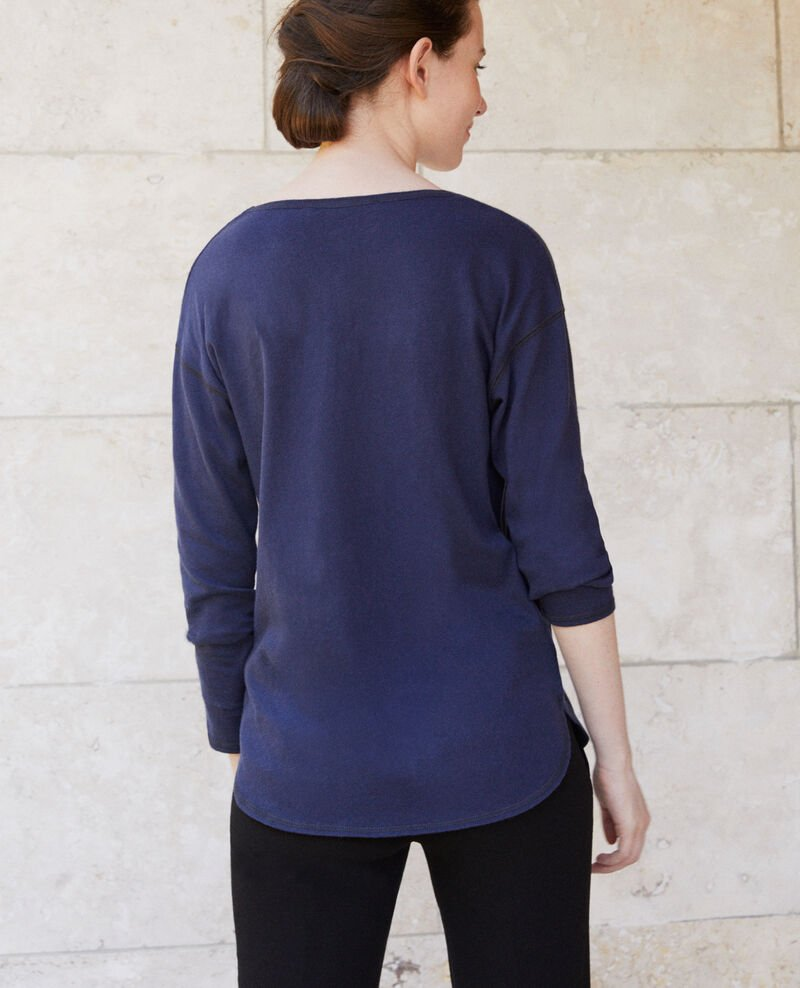 T-Shirt aus Baumwolle Peacoat Gonia