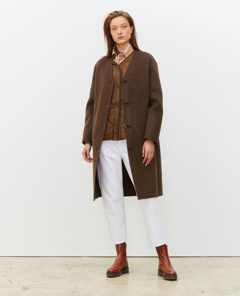 Mantel aus doppelseitiger Wolle Heather kaki Muuck