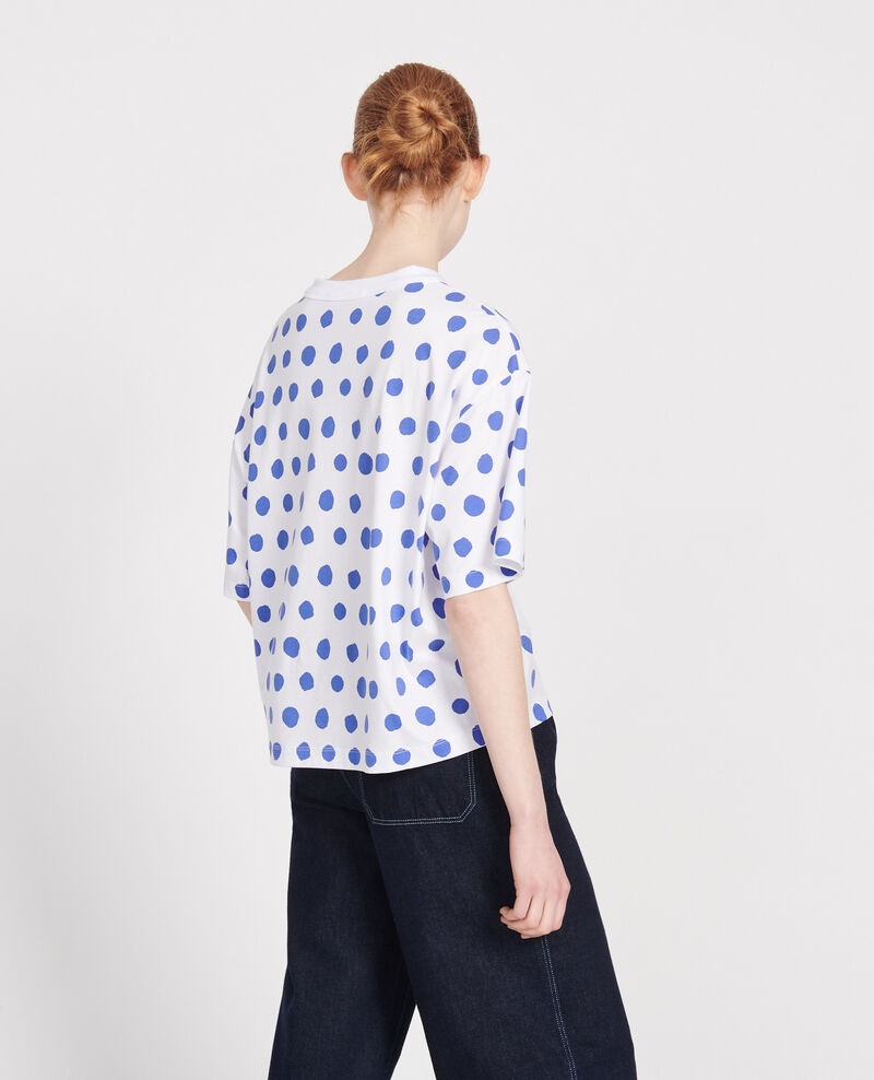 Boxy T-Shirt Dots amparo blue Lenoyer
