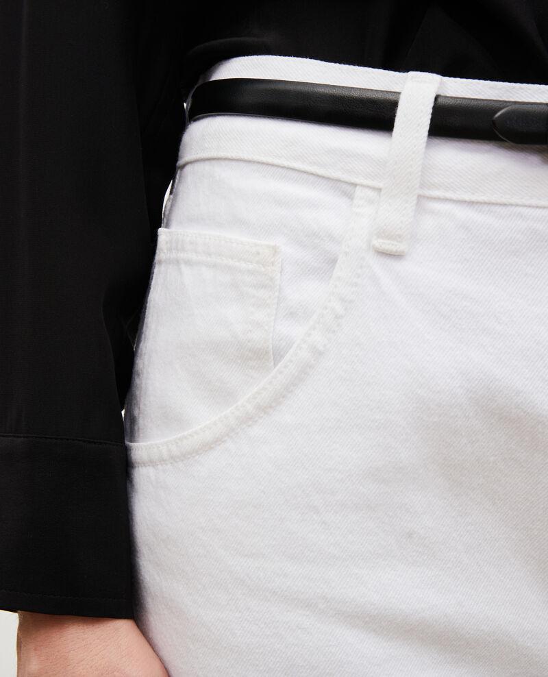 TOMBOY - Weite Jeans halbhohe Taille 5 Taschen Winter white Meroni