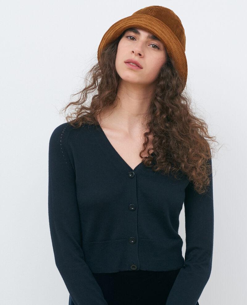Kurzer Cardigan aus Baumwolle und Seide Black beauty Nouma