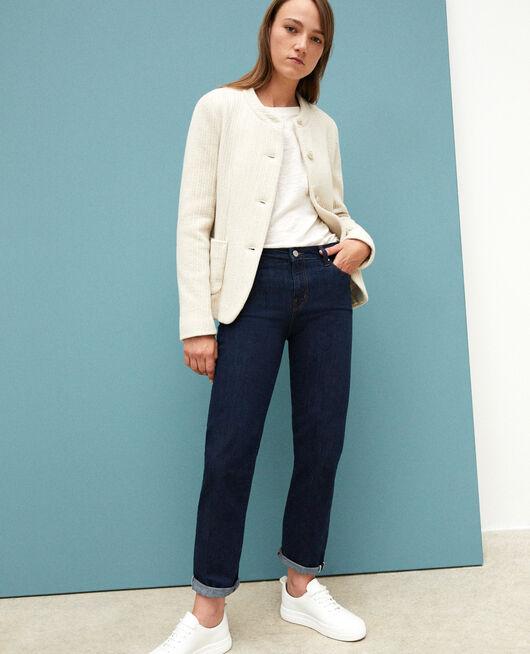 Real Straight-Jeans Blau