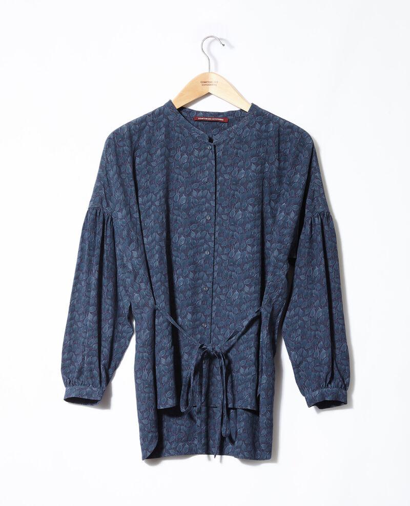 Bluse mit weitem Schnitt Blau Garuya