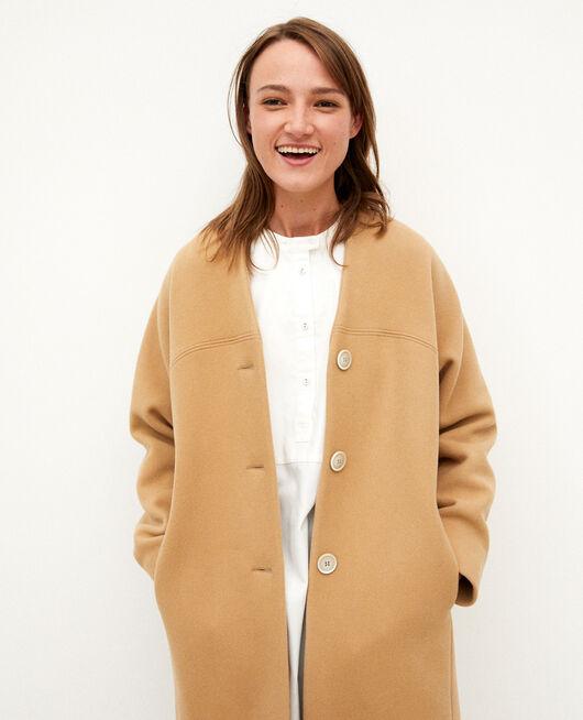 Mantel ohne Kragen TANNIN