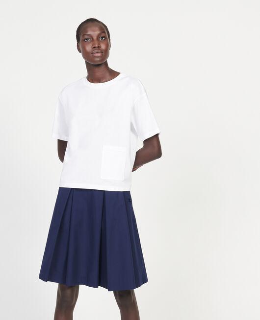 Boxy T-Shirt aus merzerisierter Baumwolle OPTICAL WHITE