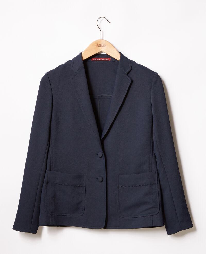 Jacke aus Krepp Marine Fociba
