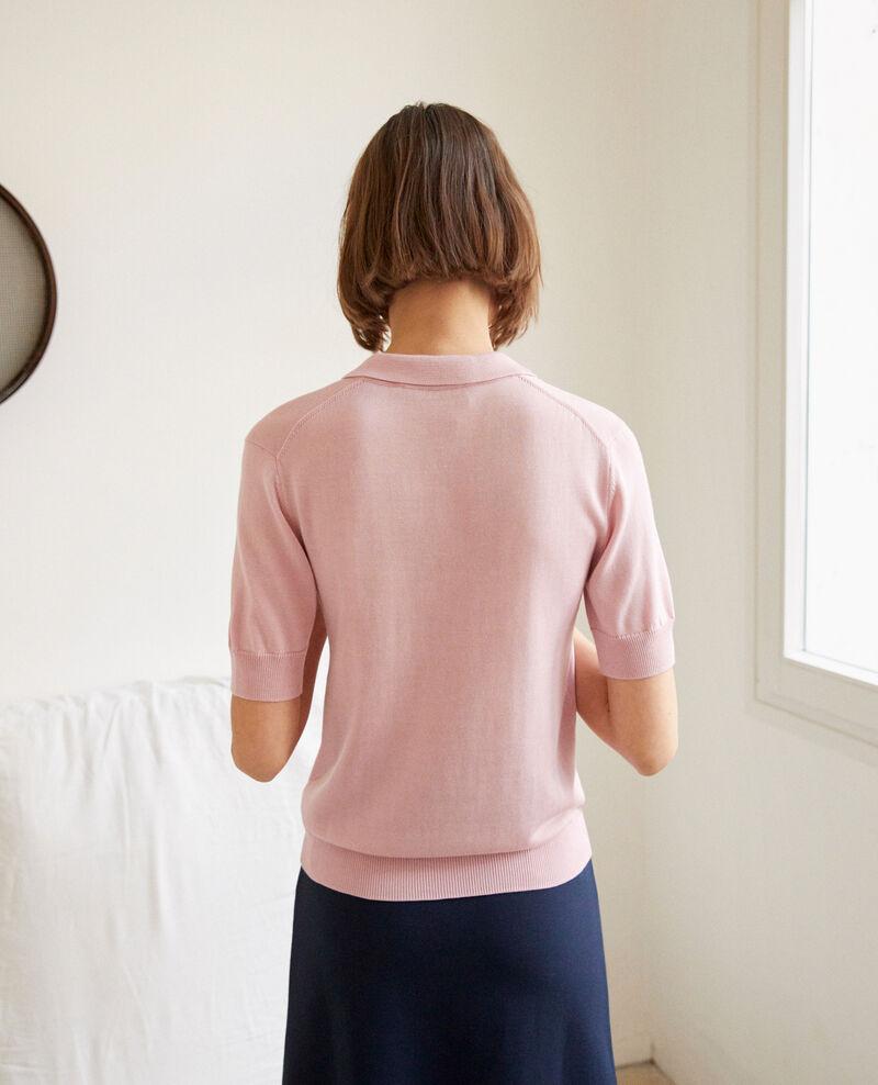 Strick-Poloshirt Pink icing Iconera