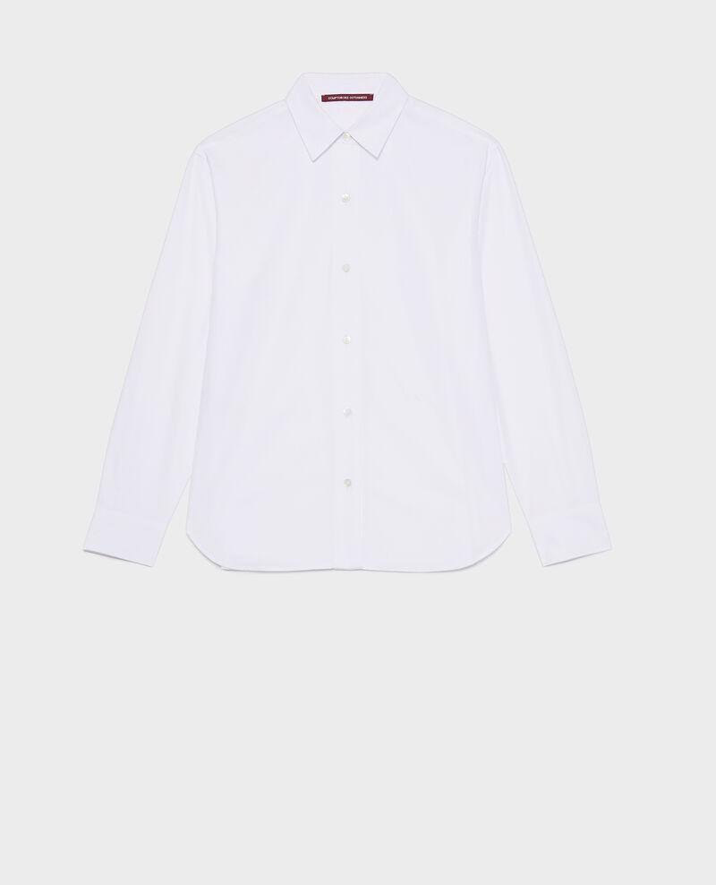 Klassische Bluse aus Popelin Optical white Lynda