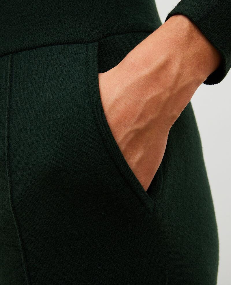 Weite Hose aus Jerseywolle Military green Marseillan 2