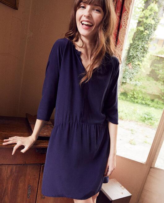 Kleid mit Seide EVENING BLUE