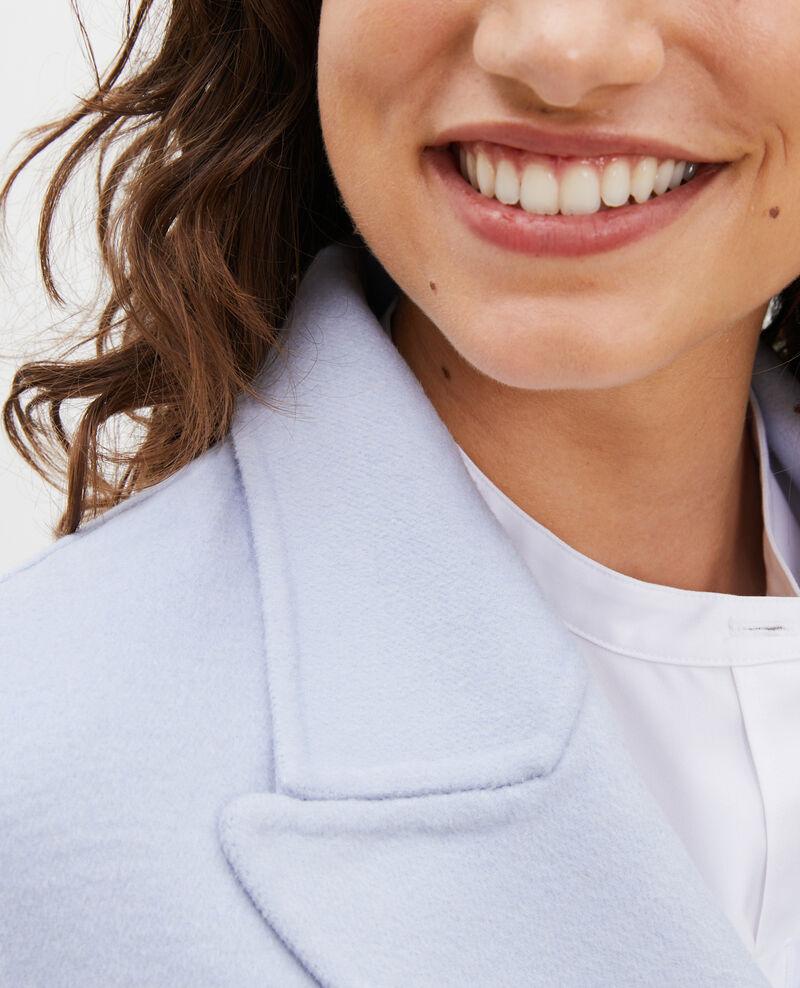 Doppelseitiger Caban-Mantel aus Wollgewebe Heather Lintot