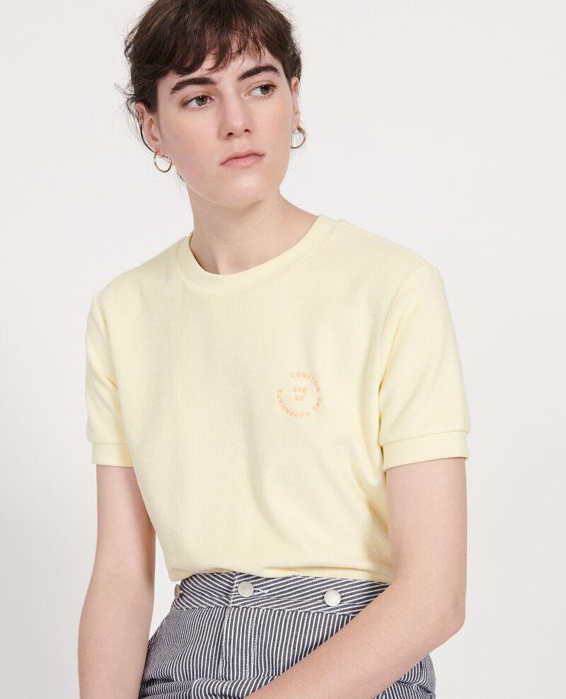Frottee-T-Shirt aus 100 % Baumwolle Tender yellow Lis