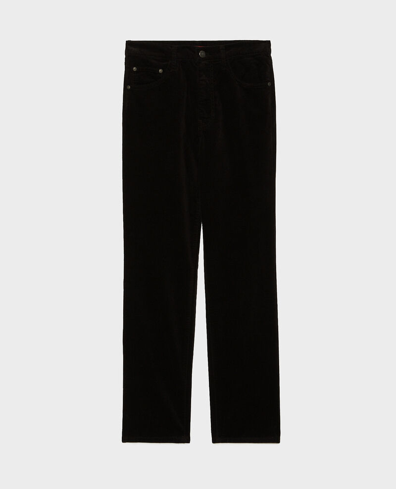 SLIM STRAIGHT - Gerade  5 Pocket-Jeans aus Samt Black beauty Muillemin