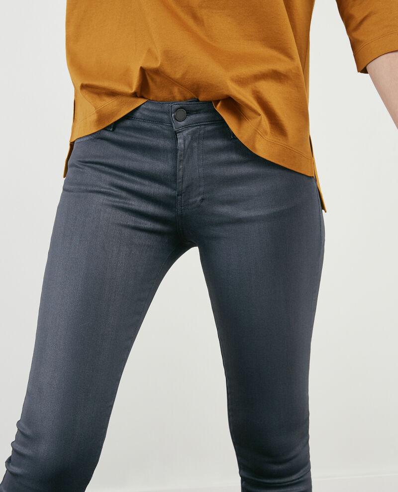 Beschichtete Skinny-Jeans Navy Didi