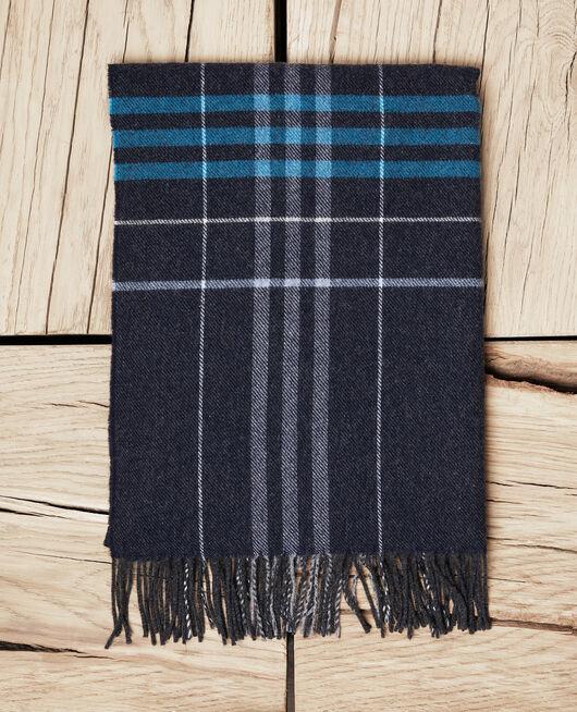 Schal mit Schottenmuster BLEU