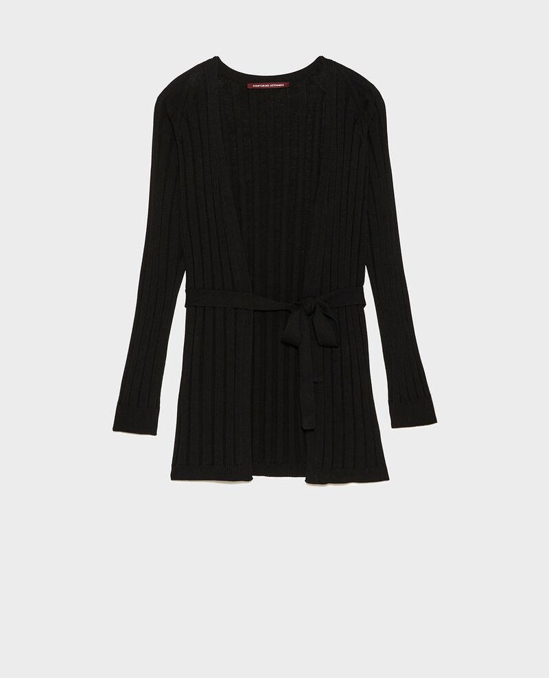 Cardigan mit breitem Rippstrick Black beauty Lunery