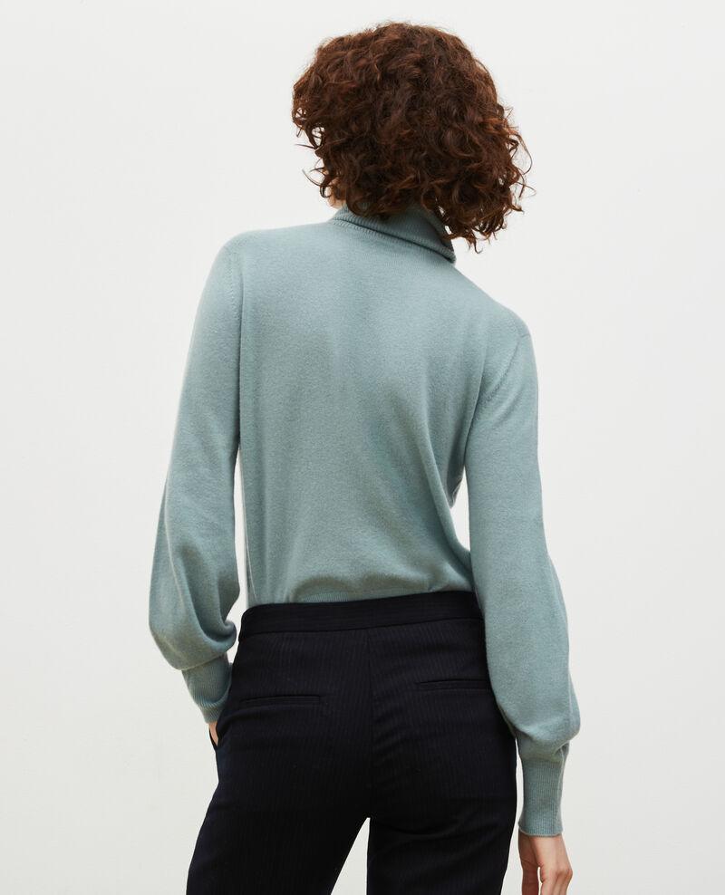 Feiner Pullover aus 3D-Kaschmir mit Stehkragen Chinois green Mane
