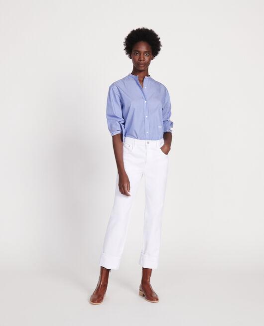 Oversize Bluse aus Baumwolle POPELINE STRIPE2