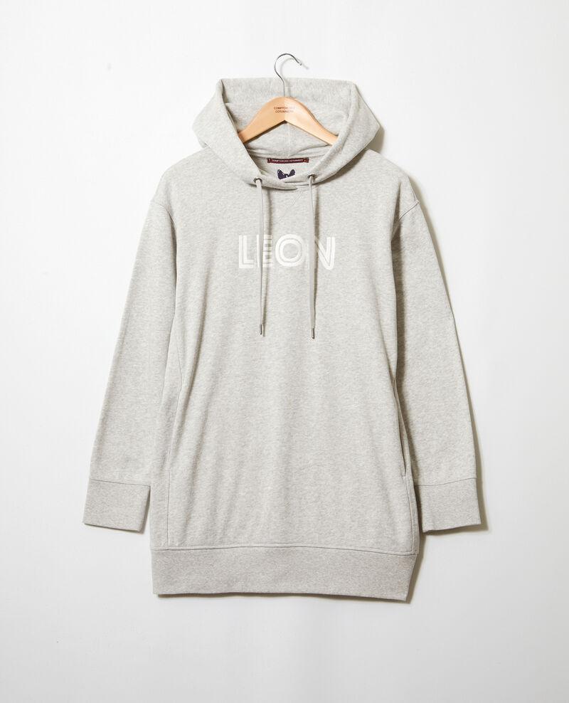 Sweatshirt mit Leon-Stickerei Heather gr/ow Inou