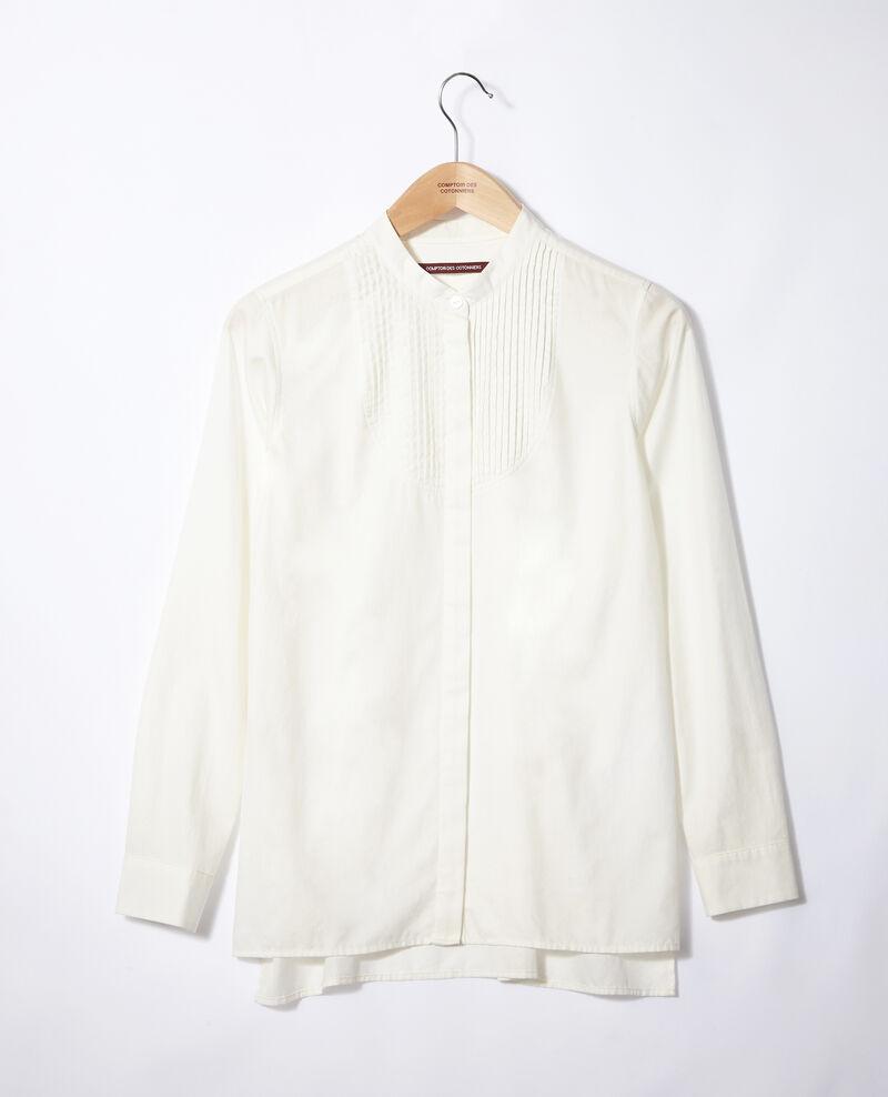 Bluse mit Mao-Kragen Weiß Ganane