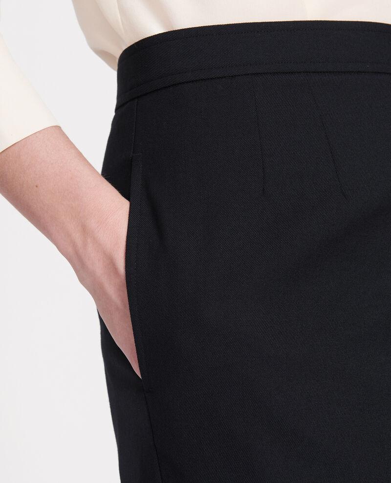 Bermudashorts aus glatter Wolle Black beauty Lancelou