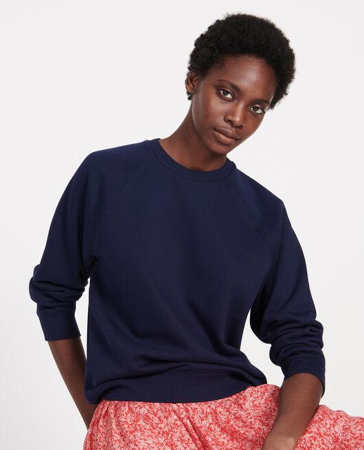 Sweatshirt aus Molton MARITIME BLUE