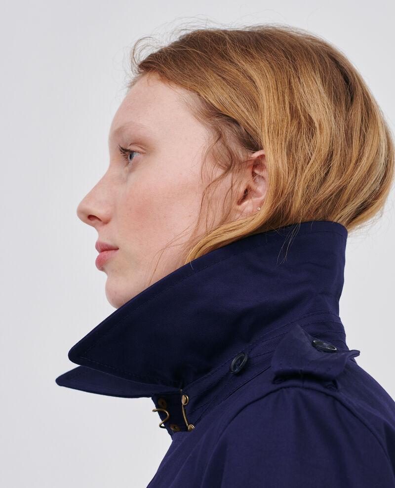 CATHERINE - Ikonischer Trenchcoat aus Baumwolle Maritime blue Lambert
