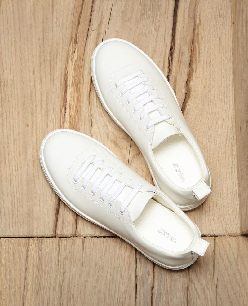 Plateau-Sneakers Weiß Gina