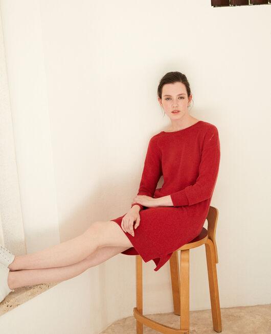 Kleid aus Kaschmir POMPEIAN RED
