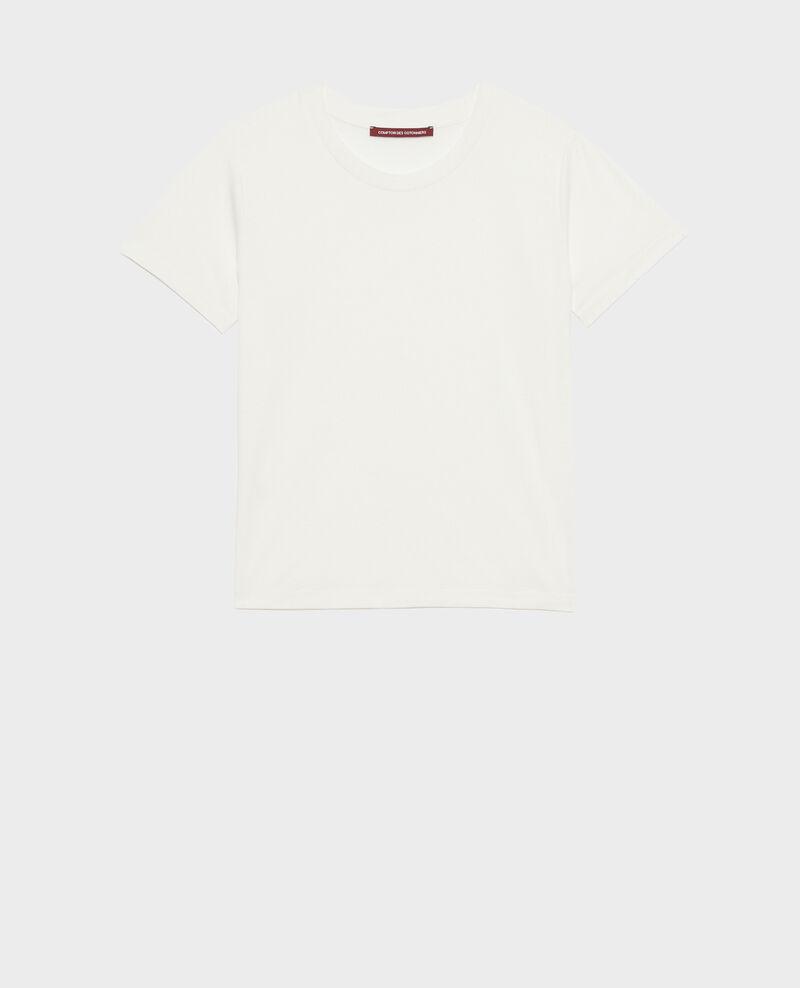 Fließendes T-Shirt mit Rundhalsausschnitt Cloud dancer Pirous