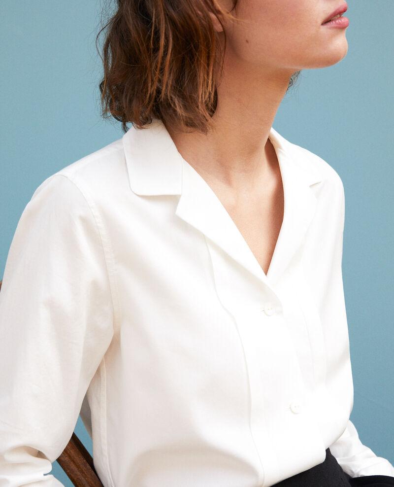 Bluse mit Offizierskragen Weiß Goja